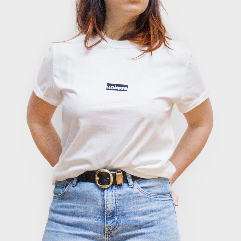 T-Shirt Unique blanc sérigraphié localement Minéralia